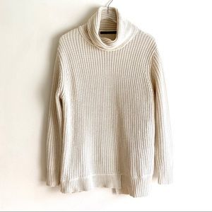 ZARA Chunky Knit Cowl Neck Oversized Sweater Ivory